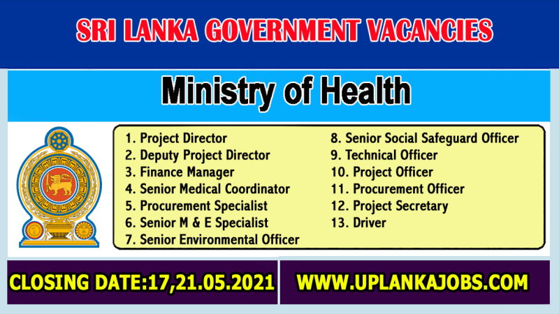 Ministry of Health Vacancies 2021