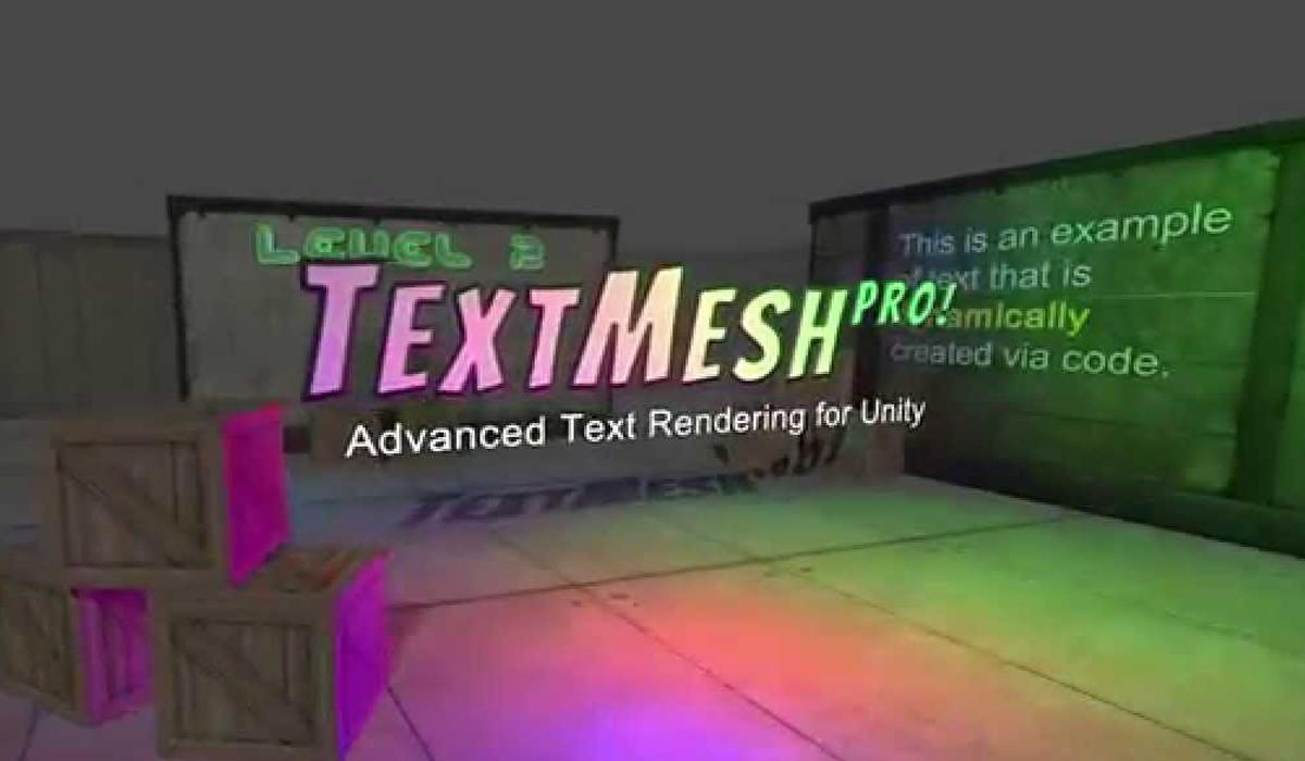 Text Mesh 3D avec Options avancés dans UNITY | UPLN