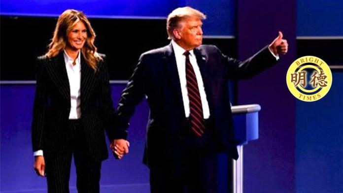 首个十月惊奇!震撼快讯:美国总统和第一夫人双双感染!冲击美国大选,震荡美中关系!(视频截图)