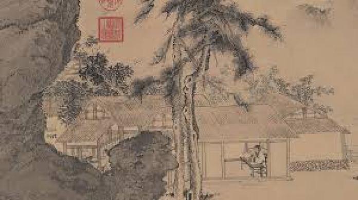 """唐寅体现""""春""""的代表作品《事茗图》(故宫博物院)"""