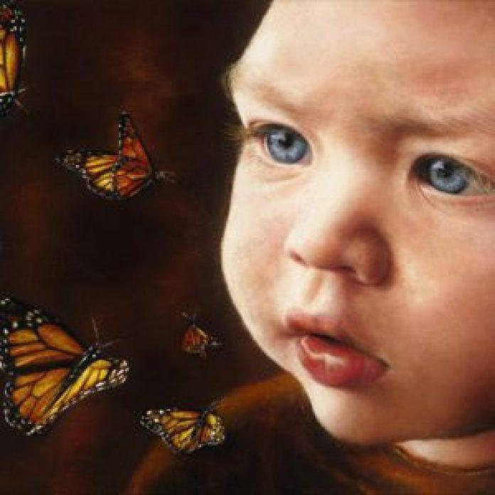 六岁的时候,阿琪雅纳开始用油彩棒画画(