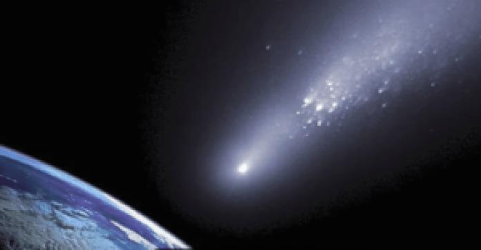 陨石中的杂质会散落到各个地方(视频截图)