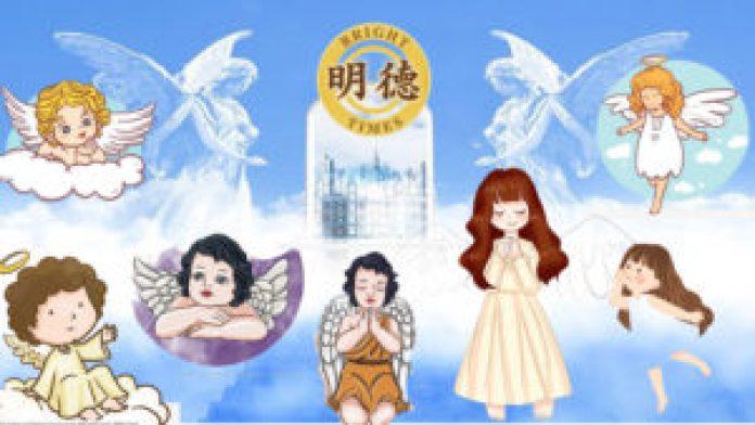 天使在天上排队找妈妈(明德合成)