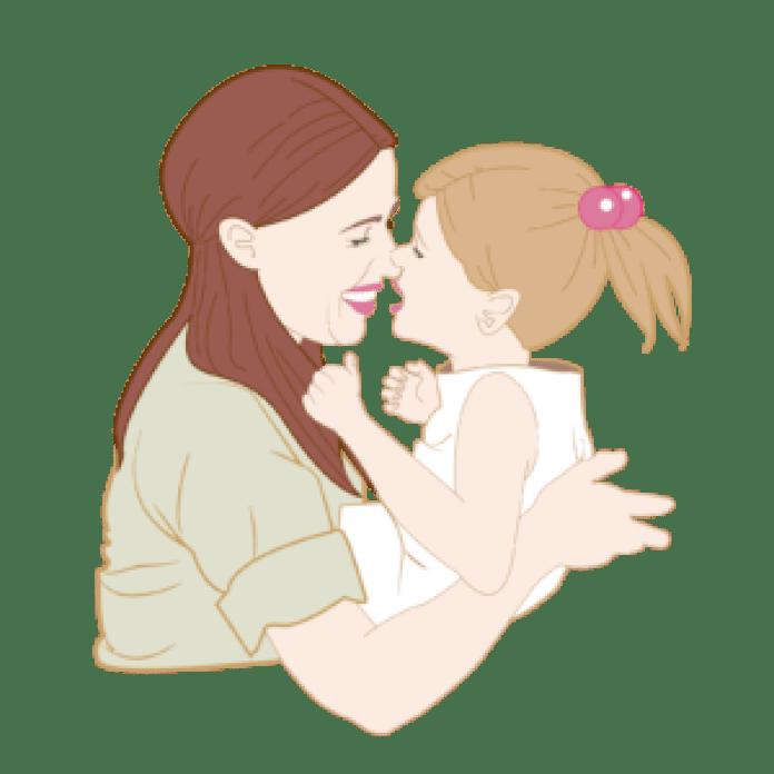 这时小宝宝哭了,她连忙将孩子抱起(pngtree)