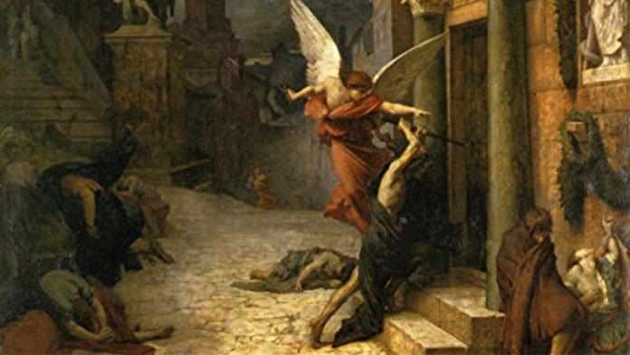 《被瘟疫侵襲的羅馬城》(1869年作巴黎奧塞美術館藏)