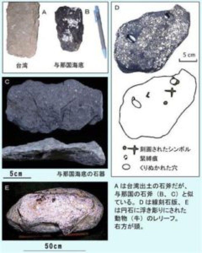 图15:与那国岛遗址发现的人类工具(明慧网)