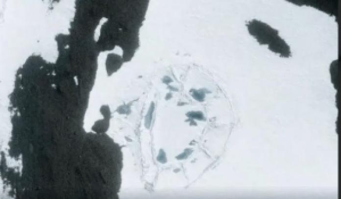 从卫星图片可以看到这个神秘的椭圆形建筑(谷歌地球)