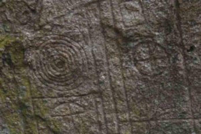 雕刻的细节,物体被确定为伞 ( 公共领域 )