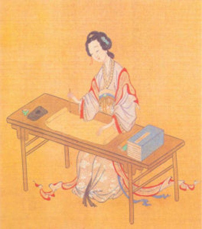 李清照的词作中,有许多关于熏香的记录。图为《千秋绝艳图》之李清照像,明人绘。(公有领域)