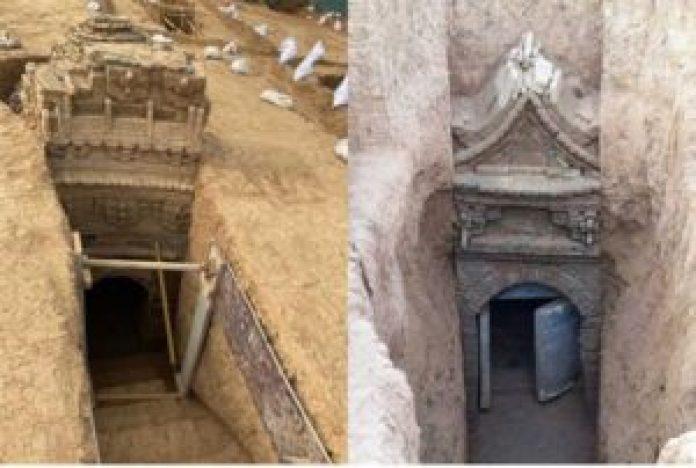 在济南发现的35座墓葬中,有12座是元代墓葬。(济南市考古研究所)