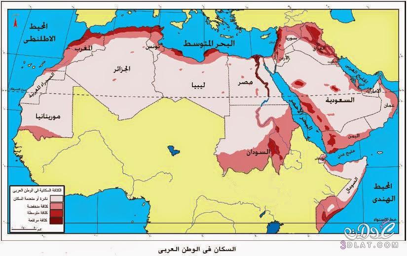 خريطة الوطن العربي الجديدة ملونة وصماء صور متعدده لخرائط الوطن