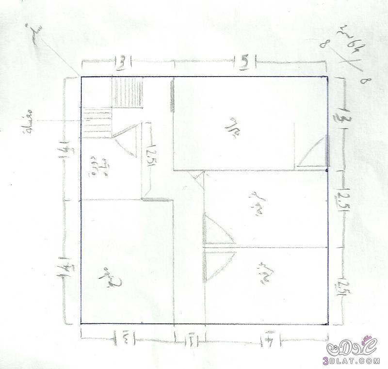 صور خرائط وتصاميم منازل و شقق مساحات صغيرة ومتوسطة تصاميم