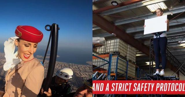 iklan pramugari di atas burj khalifah