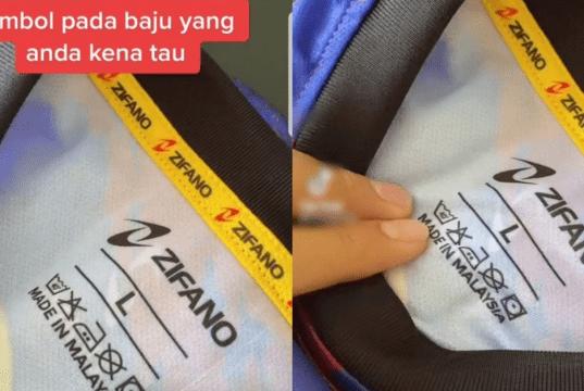 Simbol pada tag baju