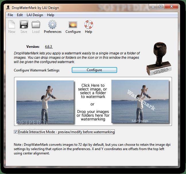 برنامج لصنع علامة مائية على صورك بسهولة Dropwatermark