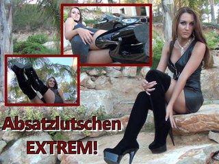 DirtyAnja - Absatzlutschen EXTREM!
