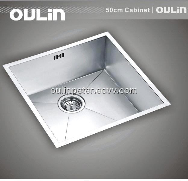 undermount stainless steel square sink
