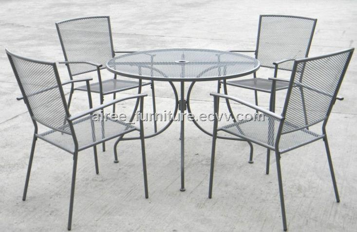 steel mesh patio dining from china