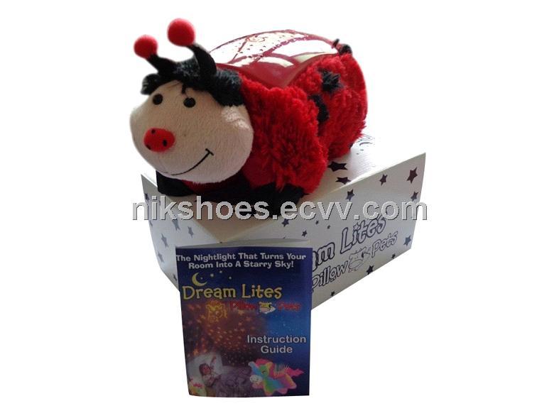 dream lites pillow pets red ladybug