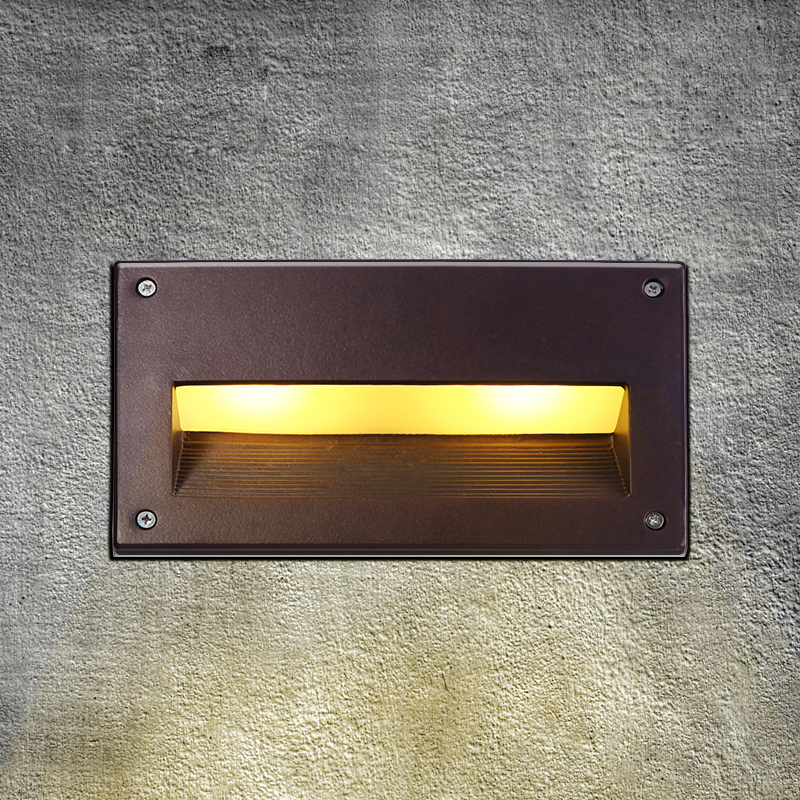 led recessed wall light outdoor