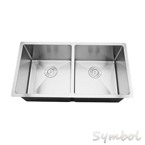 double bowl square undermount kitchen