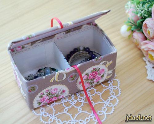 تعلمي صنع علبة مجوهرات طريقة سهلة وبسيطة لعمل صندوق