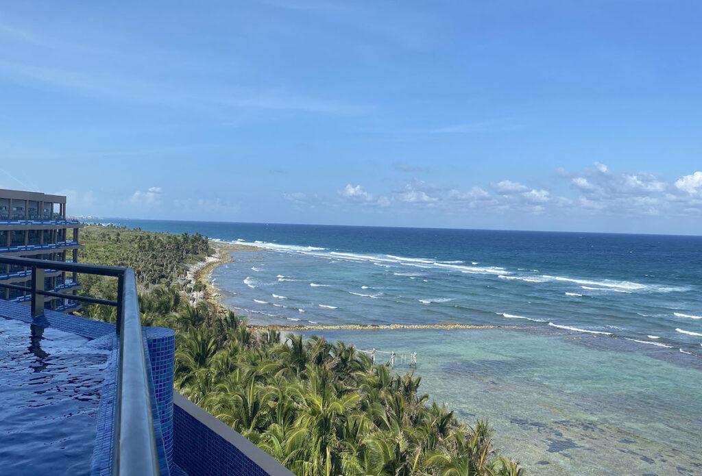 Ocean view from Honeymoon Suite, El Dorado Seaside Suites.