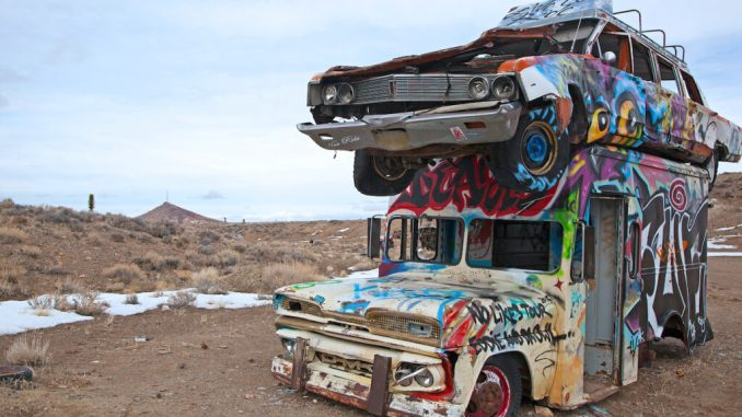 International Car Forest Of The Last Church, Nevada.