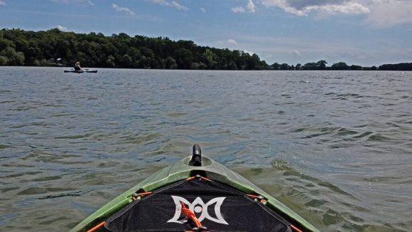 Kayaking in Estherville, Iowa.