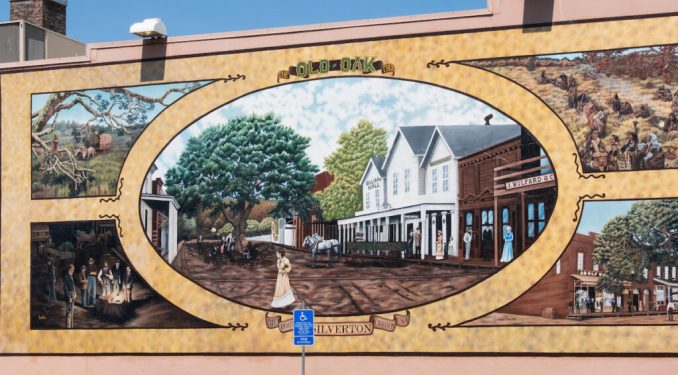 One of the murals in downtown Silverton.