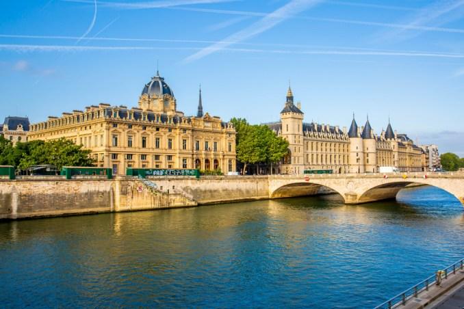 Conciergerie, a part of the former royal palace located along the Seine River, Paris