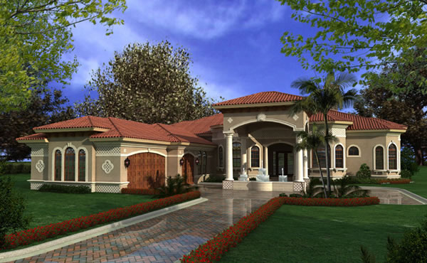 One Story Modular Homes Luxury One Story Mediterranean