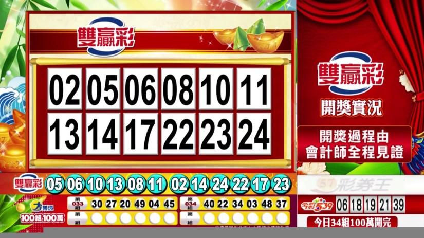 雙贏彩中獎號碼》第109000159期 民國109年7月3日 《#雙贏彩 #樂透彩開獎號碼》