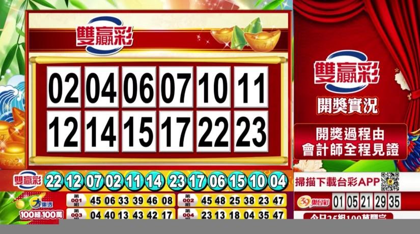 雙贏彩中獎號碼》第109000165期 民國109年7月10日 《#雙贏彩 #樂透彩開獎號碼》