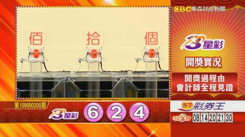 3星彩中獎號碼》第109000200期 民國109年8月20日 《#3星彩 #樂透彩開獎號碼》