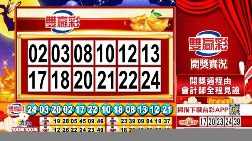 雙贏彩中獎號碼》第109000228期 民國109年9月22日 《#雙贏彩 #樂透彩開獎號碼》