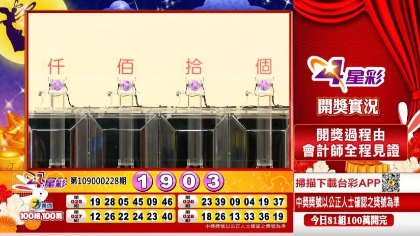 4星彩中獎號碼》第109000228期 民國109年9月22日 《#4星彩 #樂透彩開獎號碼》