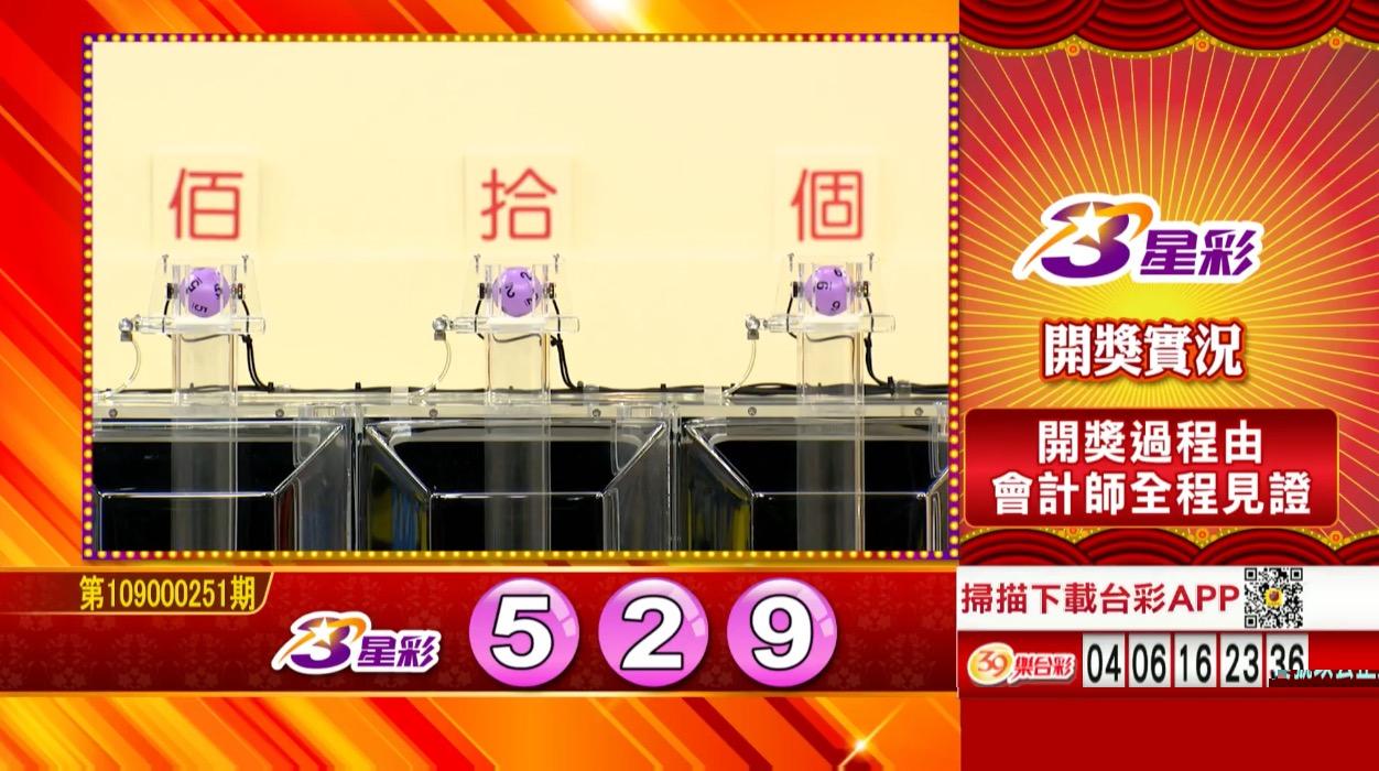 3星彩中獎號碼》第109000251期 民國109年10月19日 《#3星彩 #樂透彩開獎號碼》