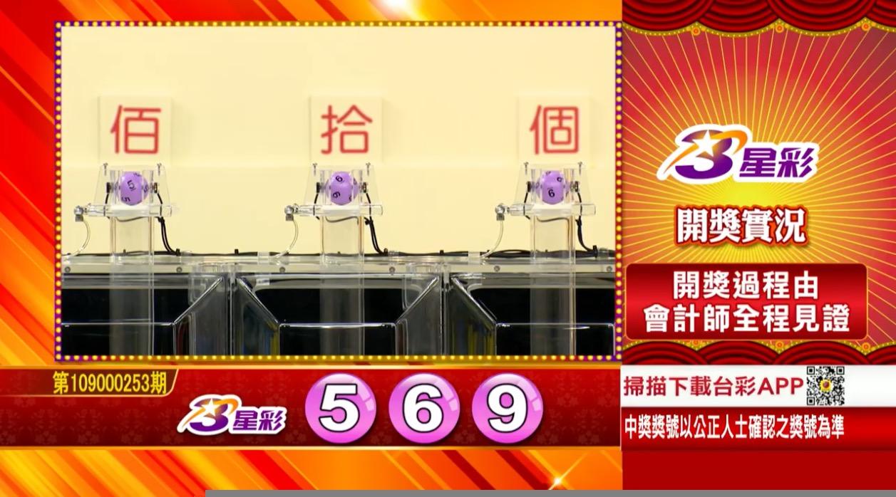3星彩中獎號碼》第109000253期 民國109年10月21日 《#3星彩 #樂透彩開獎號碼》