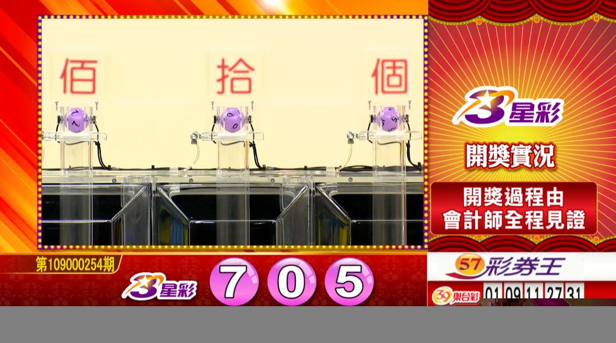3星彩中獎號碼》第109000254期 民國109年10月22日 《#3星彩 #樂透彩開獎號碼》