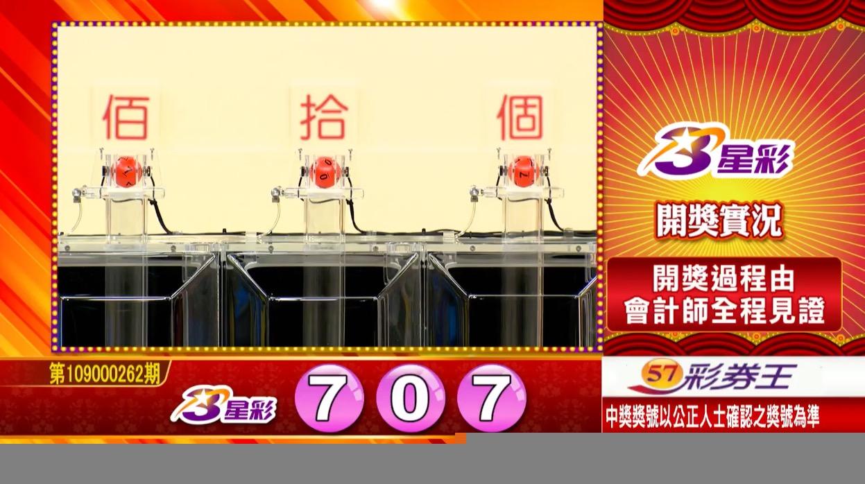 3星彩中獎號碼》第109000262期 民國109年10月31日 《#3星彩 #樂透彩開獎號碼》