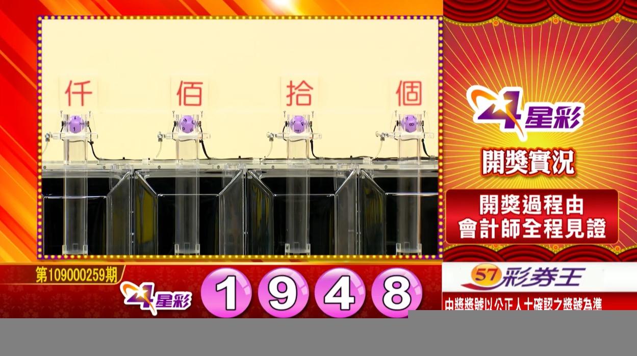 4星彩中獎號碼》第109000259期 民國109年10月28日 《#4星彩 #樂透彩開獎號碼》