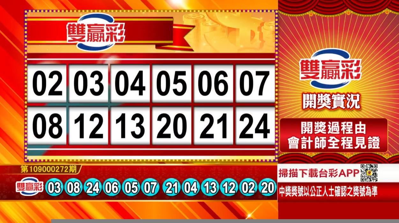 💰雙贏彩中獎號碼💰第109000272期 民國109年11月12日 《#雙贏彩 #樂透彩開獎號碼》