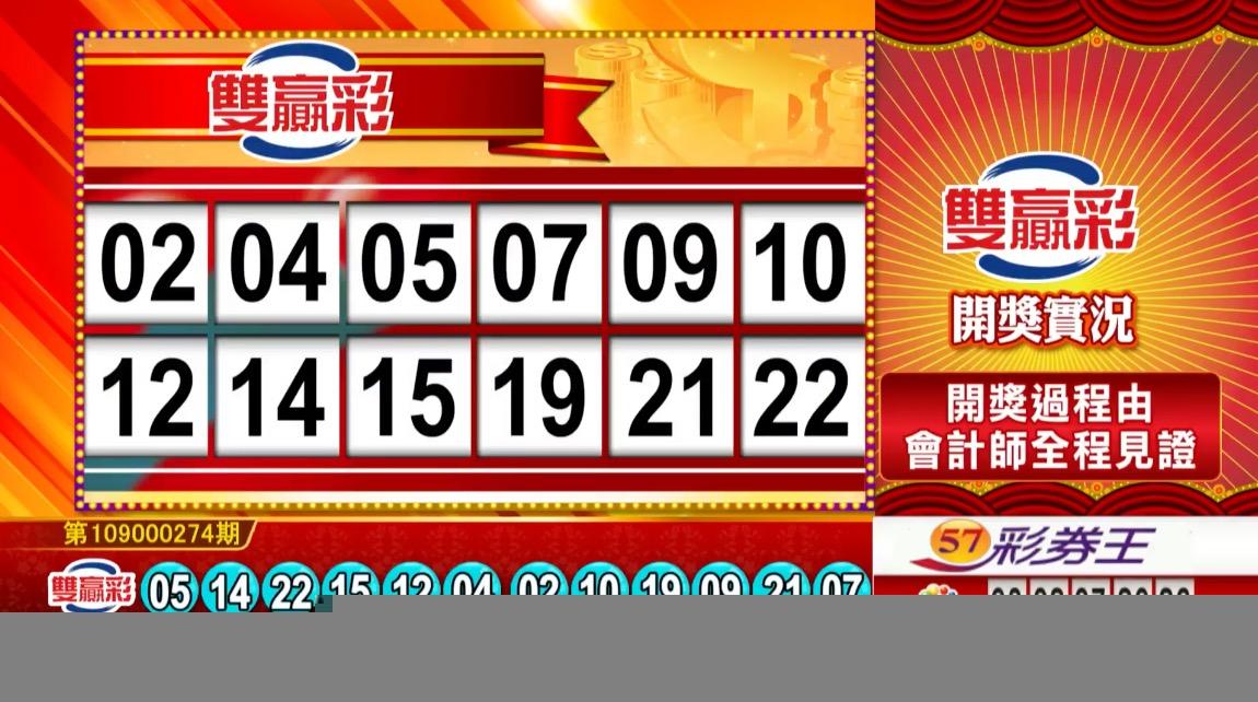 💰雙贏彩中獎號碼💰第109000274期 民國109年11月14日 《#雙贏彩 #樂透彩開獎號碼》