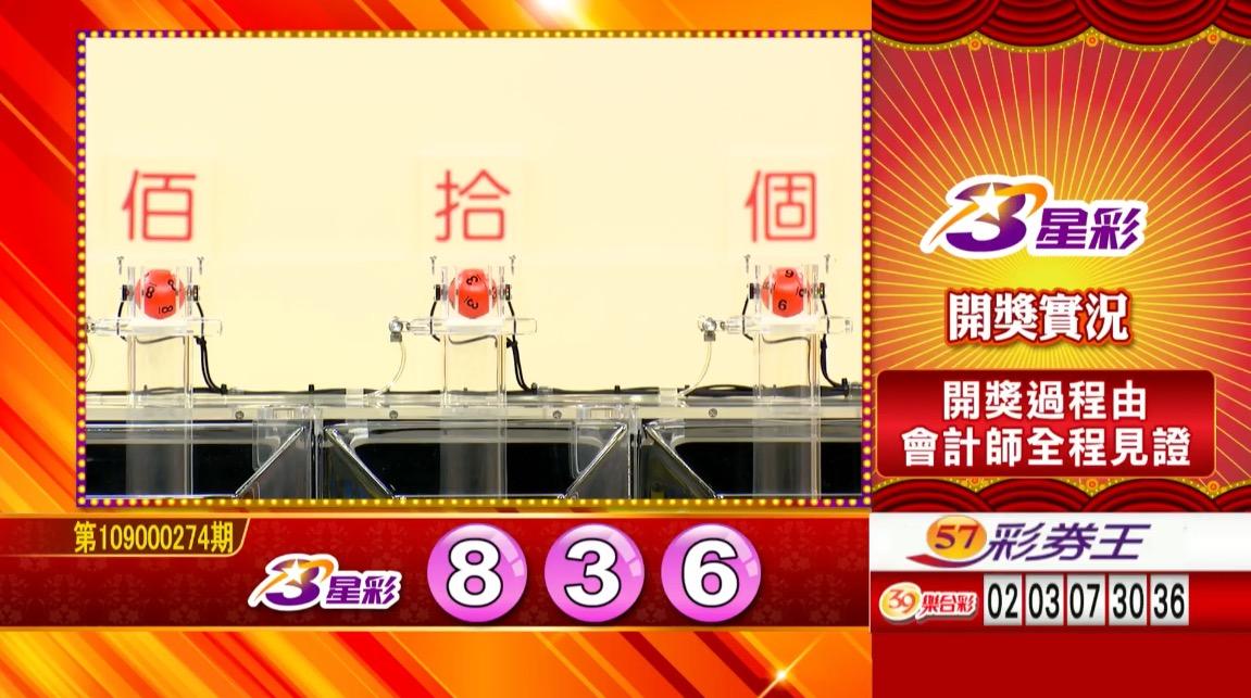 💰3星彩中獎號碼💰第109000274期 民國109年11月14日 《#3星彩 #樂透彩開獎號碼》