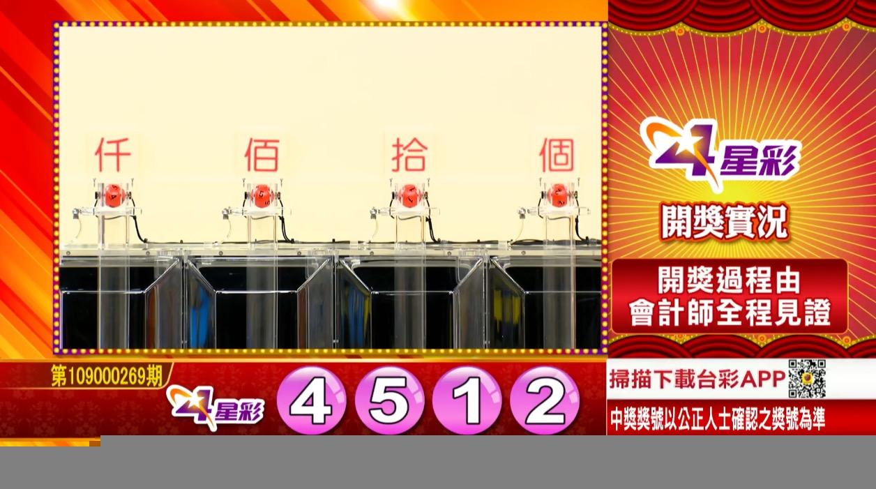 💰4星彩中獎號碼💰第109000269期 民國109年11月9日 《#4星彩 #樂透彩開獎號碼》