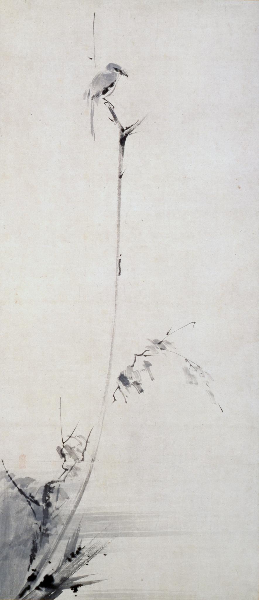 枯木鳴鵙図 Kobokumeigekizu