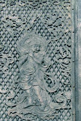English: Krishna in Todaji temple. Relief.