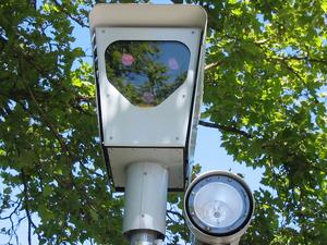 A red-light camera in use in Beaverton, Oregon...