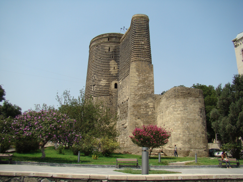 The Maiden Tower in Baku, Azerbaijan